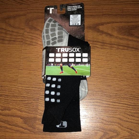 b551d7983fd7 BNWT TRUSOX Mens BLack Soccer Socks sz.M
